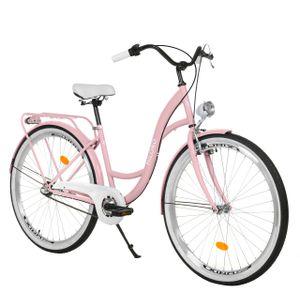Milord Komfort Stadtfahrrad Fahrrad City Damenfahrrad, 26 Zoll, Rosa, 3-Gang