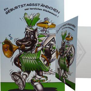 """Borussia Mönchengladbach Geburtstagskarte """"Ständchen"""""""