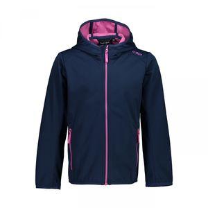 Cmp Girl Jacket Fix Hood 28Mg Blue-Malva 164