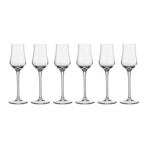 Leonardo Ciao+ Grappaglas 6er Set, Schnapsglas, Aperitifglas, Glas, Extrem Stoßfest, 80 ml, 19834