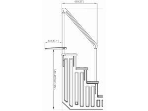 Einfache Pool-Treppe