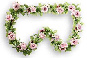 Basil Rosen rosa Rosengirlande Blumengirlande Fahrrad Blumen für Lenker + Korb