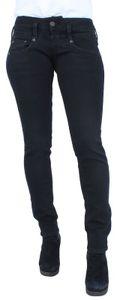 Herrlicher Pitch Slim Damen Jeans 5303 DB840 671 Tempest Black Denim, Herrlicher Farben:671 Tempest, Jeans Größen:W32/L32