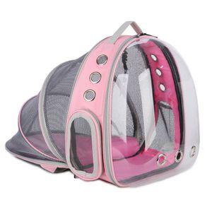 Haustier Reise Rucksack, Katzentransportrucksack,Faltbarer tragbarer Haustier-Rucksack für Hunde und Katzen,rosa