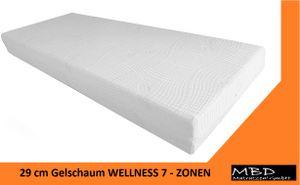 ☛ N E U ☛  29 cm Gelschaum WELLNESS 7 - ZONEN --- GELSCHAUM - MATRATZE  ➽ Größe: 100 x 200 cm