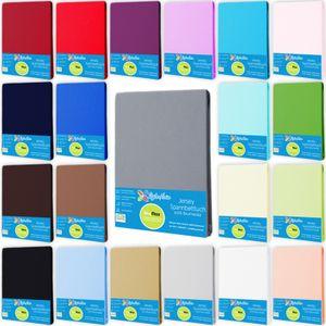 Spannbettlaken JerseySpannbetttuch 100% Baumwolle 180x200 - 200x200 cm Farbe Anthrazit-Grau