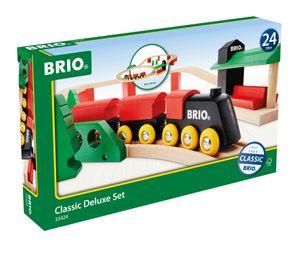 BRIO 33424 - Classic Deluxe-Set, Holzeisenbahn-Set 7312350334241