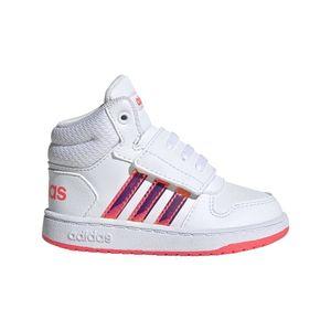 adidas Core Kleinkinder Kinder Freizeit und Sport Schuhe Hoops MID 2.0 I weiß, Größe:25