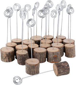 20 Stück Tischkartenhalter Fotohalter Holz Kartenhalter Hochzeit Platzkartenhalter Memohalter Sitzkartenhalter Tischnummernhalter für Hochzeit (H≈14 cm)