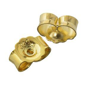 1Paar 333 Gelbgold Gegenstecker Ohrstecker Ohrstopper Loch 0,8mm Ohrmutter 4820