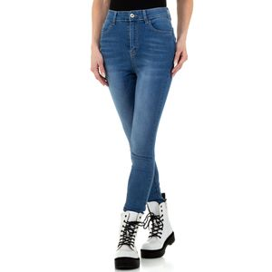 Ital-Design Damen Jeans High Waist Jeans Hellblau Gr.29
