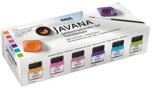 KREUL Seidenmalfarbe JAVANA Trendfarben Set 6 x 20 ml auf Wasserbasis