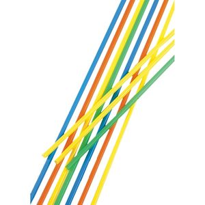 100 Trinkhalme, Maxi Ø 6,5 mm · 75 cm farbig sortiert