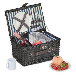 relaxdays Picknickkorb für 2 Personen