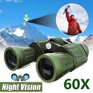 60 x 50 Zoom Militärarmee Hochleistungs-HD-Fernglas Nachtsicht Anti-UV-einstellbares Handfernglas Teleskop Jagd Camping Reisen