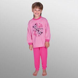 2 tlg Kinder Schlafanzug Pyjama Kinderschlafanzug SUMMER FEELINGS 100% Baumwolle Farbe pink Größe: 80 - 98 Größe - 92