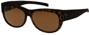FitOfar transfer-Sonnenbrille braun Damen mit brauner Linse VZ0023B
