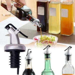 4 Stück Edelstahl Flaschenausgießer Set, Ausgießer für Flaschen Wein Öl Flasche Stopfen mit konischer Tülle 8.5cm*3cm