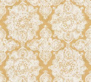A.S. Création Barocktapete Trendwall Tapete mit Ornamenten Vliestapete gold weiß 10,05 m x 0,53 m
