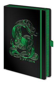 Harry Potter Premium Notizbuch Slytherin Metallic