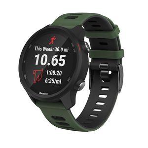 Armband Garmin Forerunner 245 Silikon Militärgrün