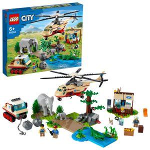 LEGO 60302 City Wildlife Tierrettungseinsatz Tierarzt Spielzeug ab 6 Jahren mit Hubschrauber