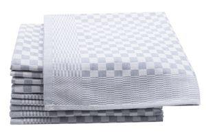 10er Set Geschirrtücher aus Baumwolle, 46x70 cm, anthrazit