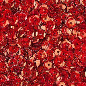 Oblique Unique 1400 Pailletten Konfetti gewölbt - rot Glitzereffekt