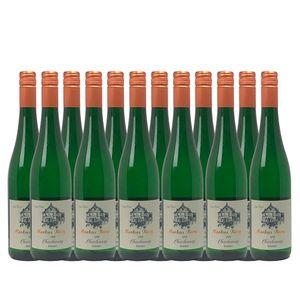 Weißwein Mosel Chardonnay Weingut Markus Burg Qualitätswein feinherb und vegan (12x0,75l)
