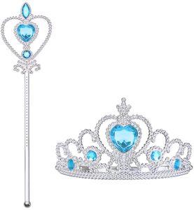 Zauberstab Krone Prinzessin Mädchen Diadem Zauberstab Kinder Zubehör Set für Prinzessin Königin Kleid Kostüm Mädchen Theateraufführung Geburtstagsgeschenk