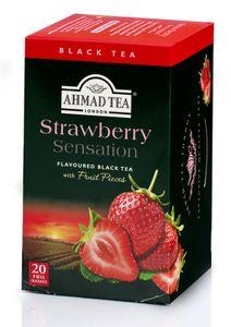 Ahmad Tea- Schwarztee mit Erdbeerenaroma 40g , 20 Beutel