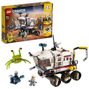 LEGO 31107 Creator 3-in-1 Planeten Erkundungs-Rover, Raumstation und Weltraumflieger Bauset, Konstruktionsspielzeug