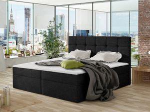Mirjan24 Boxspringbett Nele, Ehebett mit zwei Bettkästen, Doppelbett mit Topper (Farbe: Muna 14, Größe: 140x200 cm)