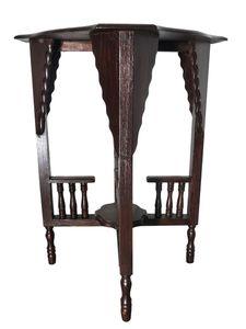 Opiumtisch Telefontisch Beistelltisch Tisch Variabel Asia Möbel Thailand Holz 73x49CM DB