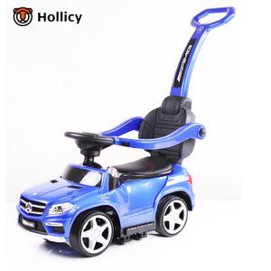 4in1 Rutschauto Mercedes-Benz GL63 AMG Lizenz Rutscher Kinderauto Rutschfahrzeug, Farbe:Blau