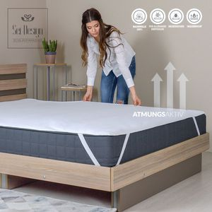 Sei Design wasserdichte Molton-Matratzenauflage  160x200cm aus 100% Baumwolle, kochfest