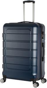 Hartschalenkoffer Trolley 4-Rollen Koffer Reisekoffer / XL 104 Liter / 201 - Farbe: dunkel-blau