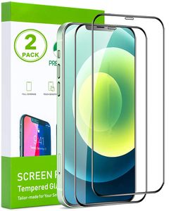 2x iPhone 12 PRO MAX 6,7 3D Schutzglas 9H Schwarzer Rand Panzerglas