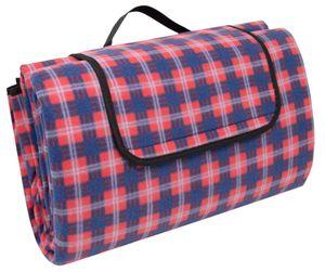 Picknickdecke, 200x200 cm, wasserdicht und isoliert, rot-blau-weiß-kariert