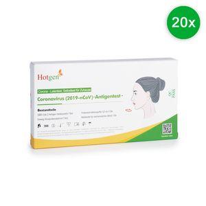 20x Hotgen   Schnelltest Selbsttest Laien Test Antigen BfArM Nasal COVID-19