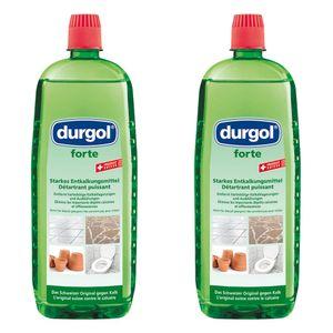 Durgol Forte Extra Starker Entkalker Set, Kaltentferner, Kalkreiniger, Kalklöser, 2x 1 L, 4-466