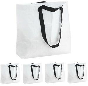 5x Väcka Frakta Ikea Trage Tasche Tüte 36l weiß Shopper Beutel Umzug Carrier Bag
