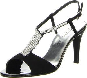 Vista Damen Sandaletten schwarz, Größe:39, Farbe:Schwarz