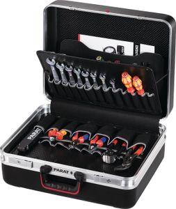 Schalenkoffer X-ABS 470x360x180mm dopp.Alu.-Rahmen PARAT schwarz