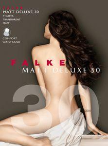 FALKE Damen Strumpfhose - Matt Deluxe 30, transparent matt, 30 DEN Powder L (44-46)