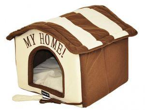 nanook Hundehöhle Katzenhöhle Tabou braun weiß 46 cm mit Reißverschluss