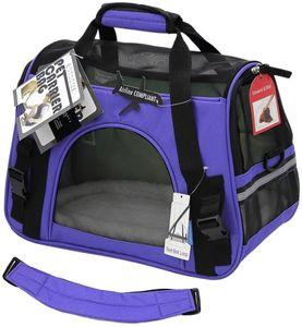 600D Transporttasche Reisetasche Tasche Hund Katze Hase Kaninchen andere Kleintiere mit Flugzulassung - Lila (M)