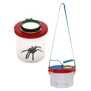 2stk. Kunststoff Lupenbecher Lupendose Becherlupe Insektenbecher für Freizeit Wandern Radfahren Camping Reisen usw.