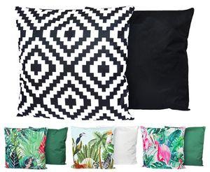 JACK XXL Outdoor Lounge Kissen 60x60cm Motiv Dekokissen Wasserfest Sitzkissen Garten Stuhl, Farbe:Abstrakt