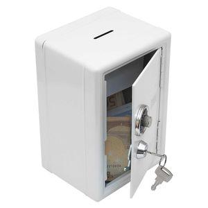 """Spardose """"Mini-Tresor"""" Safe Sparschwein Sparbüchse Geldkassette mit Zahlenschloss (weiß)"""